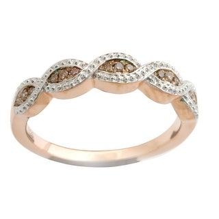 Fabulous Round Brilliant Cut Natural Brown Diamond Wedding Band Ring