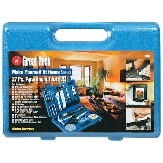 Great Neck Saw 96601 Apartment Tool Set, 27 Pieces