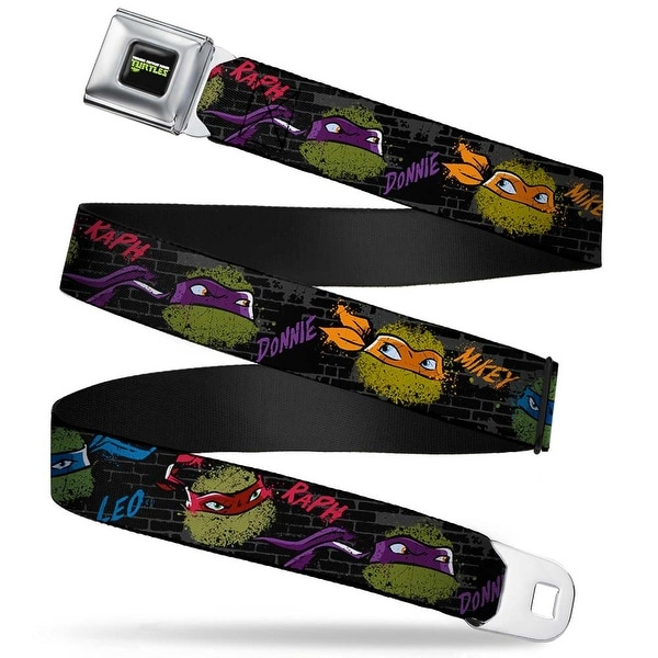 New Series Teenage Mutant Ninja Turtles Logo Full Color Classic Tmnt Faces Seatbelt Belt