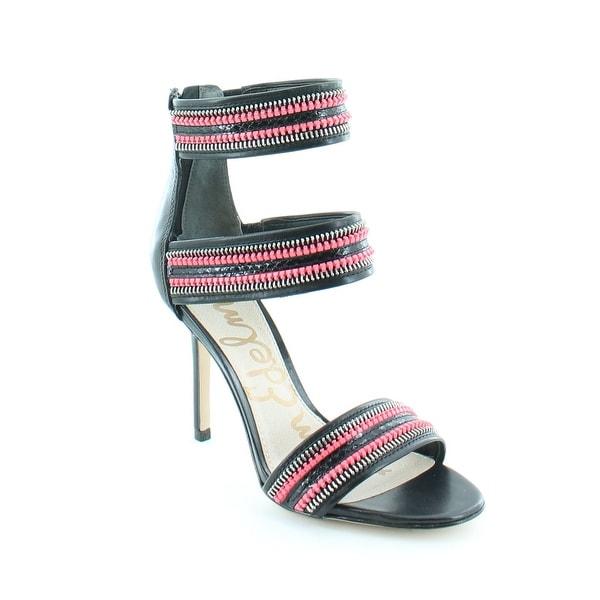 Sam Edelman Alton Women's Heels Blk/Red Zip