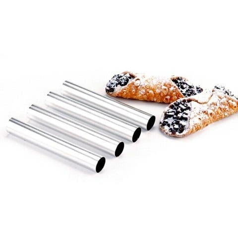 """Norpro 5.75"""" Stainless Steel Cannoli Pastry Forms Set - 4 pack"""