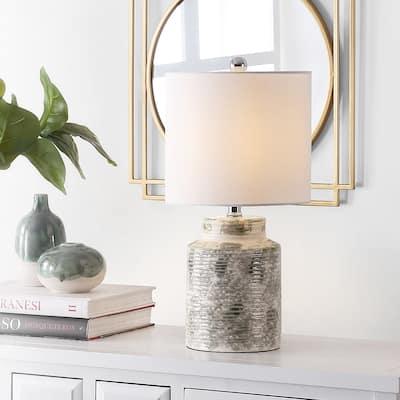 """SAFAVIEH Lighting 19-inch Branko Ceramic Table Lamp - 10"""" x 10"""" x 19"""""""