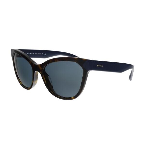 64f442d5d51e Prada PR 21SS 2AU2K1 Havana Dark Blue Rectangular Sunglasses - No Size
