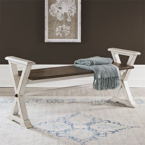Abbey Road Porcelain White Bed Bench