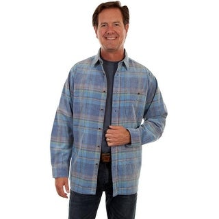 Scully Western Shirt Mens Long Sleeve Plaid Button Front