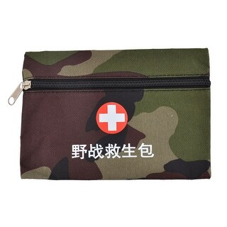 Outdoor Oxford Cloth Camouflage Pattern First Aid Rescue Storage Bag Green