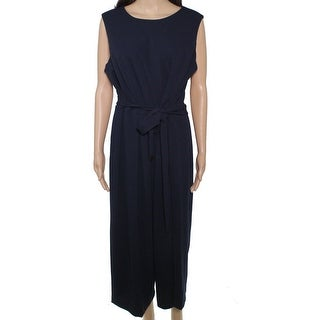 Link to Tommy Hilfiger Women's Jumpsuit Midnight Blue Size 16W Plus Belted Similar Items in Big & Tall