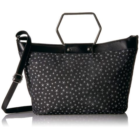 T-Shirt & Jeans Ring Tote in Denim with Stars - One Size