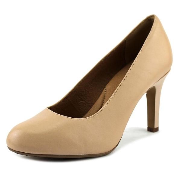 dd1bdc660e9 Shop Clarks Heavenly Star Women W Round Toe Leather Nude Heels ...