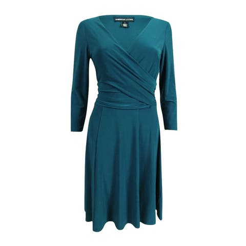 American Living Women's Ruched Jersey Dress