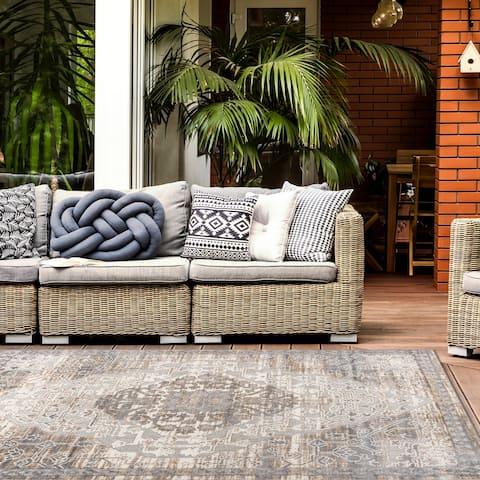 Distressed Traditional Indoor/Outdoor Area Rug