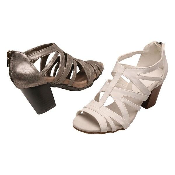 Easy Street Women's Heeled Sandals - Open Toe Shoes