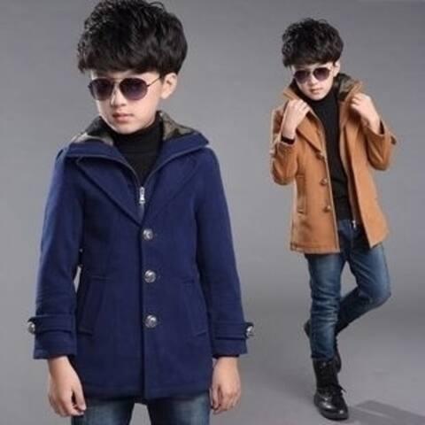 Boys Winter Coats Fashion Autumn and Winter Boy Long Sleeve Jackets