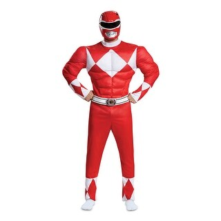 Mens Red Ranger Muscle Power Rangers Costume
