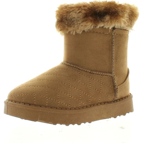 Via Pinky Coco-24F Kid's Big Girls Fashion Slip On Ankle Booties Winter Shoes