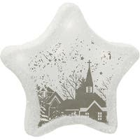 "8"" Pre-Lit  LED White Sparkle Star Winter Scene Christmas Table Top Decoration"