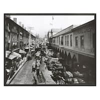 ''Light Street Looking North, Baltimore, 1906'' by Anon Architecture Art Print (16 x 20 in.)
