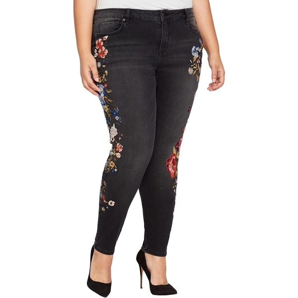 673baa10a1ac3 Shop William Rast Womens Plus Perfect Skinny Jeans Embroidered Skinny -  Free Shipping Today - Overstock.com - 25736913