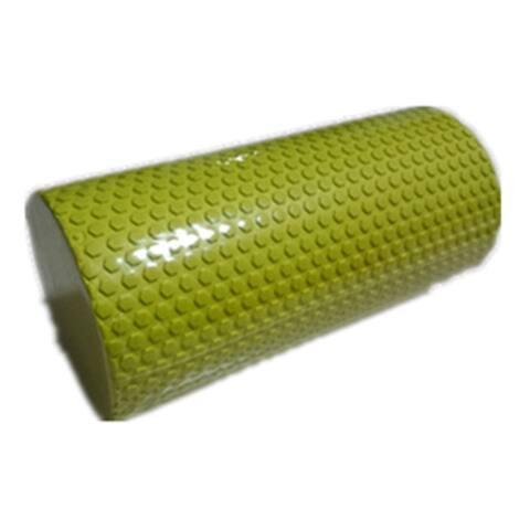 Blue Yoga Gym Pilates EVA Soft Foam Roller Floor Exercise Fitness Trigger 30x14.5cm - Yellow