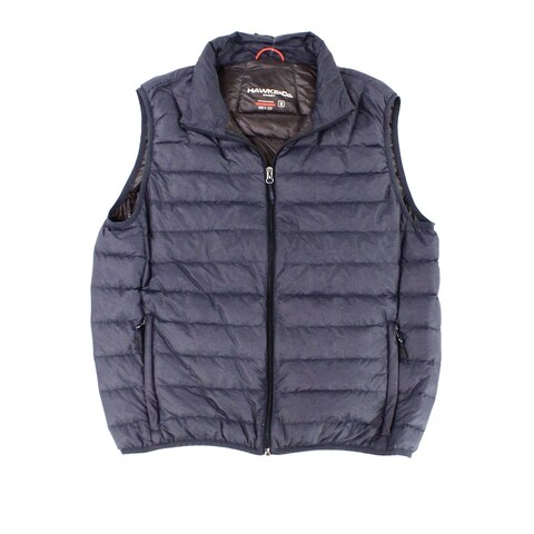 HAWKE & CO. Blue Mens Size Medium M Quilted Full Zip Jacket Vest
