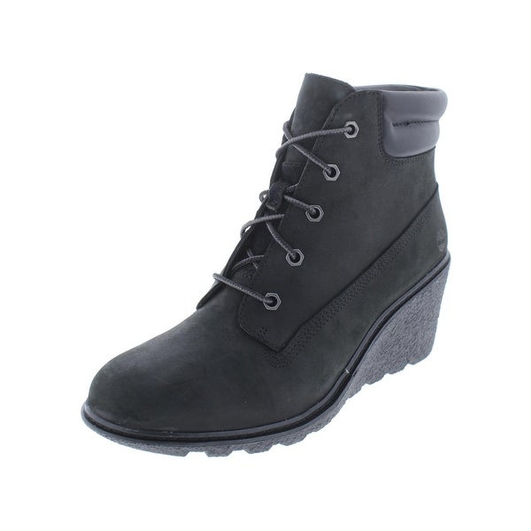 c147521c753d Timberland Womens Amston 6 in Wedge Boots Leather Wedge - 8.5 medium (b