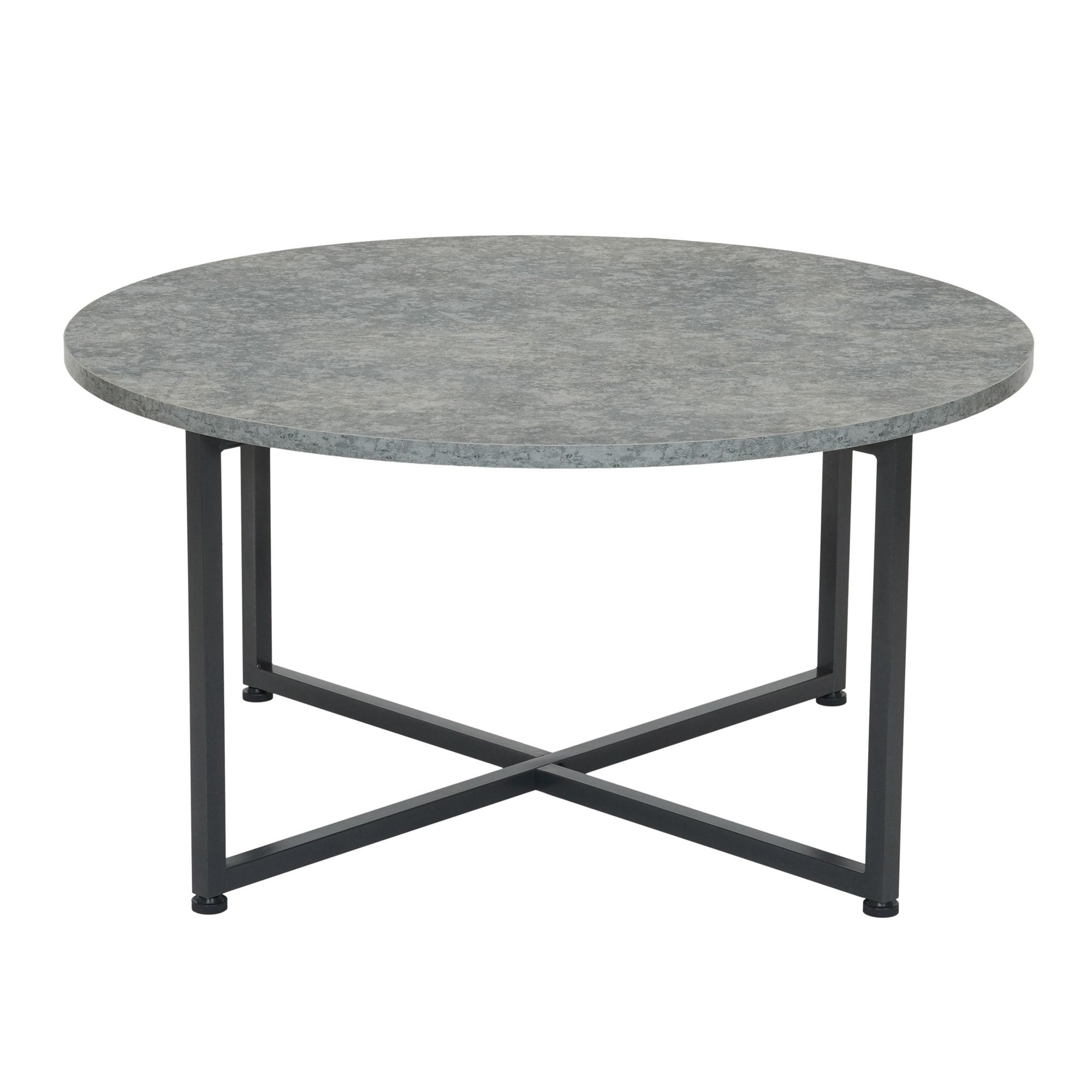 Round Gray Coffee Table Grey Slate