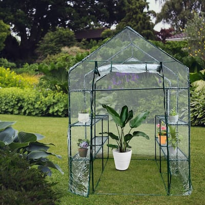 Outdoor Plant Gardening Greenhouse with Window and Anchors Include
