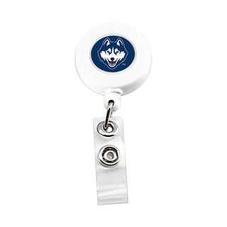 UCONN Huskies Retractable Badge Reel Id Ticket Clip NCAA