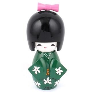 Dark Green Wooden Flower Print Japanese Kimono Kokeshi Doll Ornament|https://ak1.ostkcdn.com/images/products/is/images/direct/dc3a16e10e2015e1e9caa9a41101d7b9e2805b68/Dark-Green-Wooden-Flower-Print-Japanese-Kimono-Kokeshi-Doll-Ornament.jpg?_ostk_perf_=percv&impolicy=medium