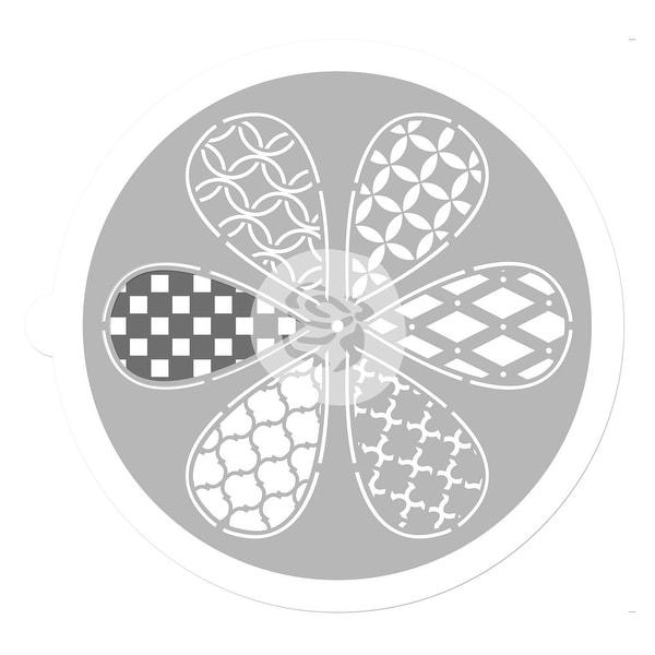 "Pinwheel Stencil 9""-Petal"
