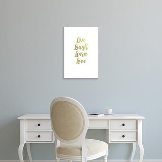Easy Art Prints 'Live Laugh Learn II' Premium Canvas Art