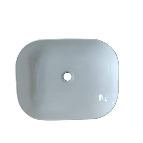 20 x 16 in. Oval White Finish Ceramic Vessel Bathroom Vessel Sink