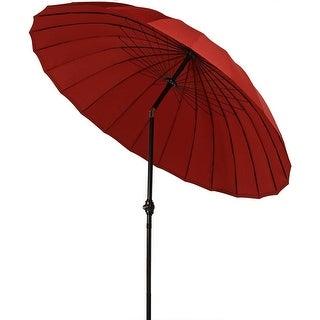 Sunnydaze Shanghai Aluminum 8 Foot Patio Umbrella with Tilt & Crank