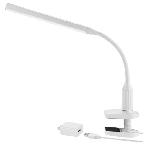 5W Dimmable Clamp LED Desk Lamp, USB Powered, 4000K Cool White