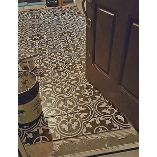 SomerTile 9.75x9.75-inch Art Black Porcelain Floor and Wall Tile (16 tiles/10.76 sqft.)