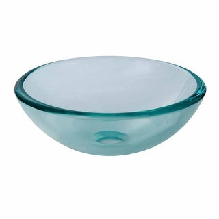 Renovator's Supply Tempered Glass Vessel Sink with Drain, Clear Mini Bowl Sink