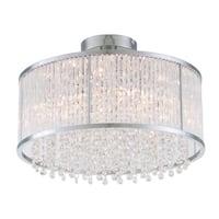 DVI Lighting DVP8511 Sparxx 3-Light Semi-Flush Ceiling Fixture - chrome/clear crystal
