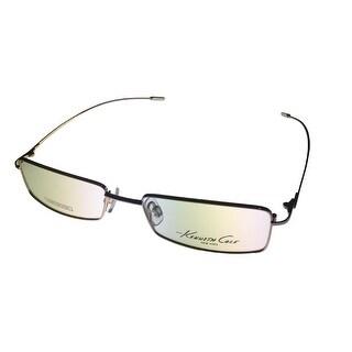 Kenneth Cole Mens Opthalmic Eyeglass Frame Gold Rectangle Metal KC139 32 - Medium