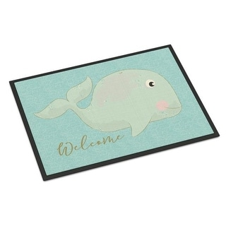Carolines Treasures BB8533MAT Whale Welcome Indoor or Outdoor Mat - 18 x 27 in.
