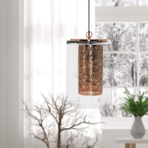 Carson Carrington Varnlanda 1-light Cylinder Glass Pendant