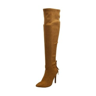 Qupid Womens Milia-111X Closed Toe Over Knee Fashion Boots