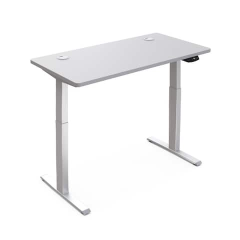"""Hi5 Electric Height Adjustable Standing Desks with Rectangular Tabletop (47.20""""x 24"""") with with 4 Color Options"""