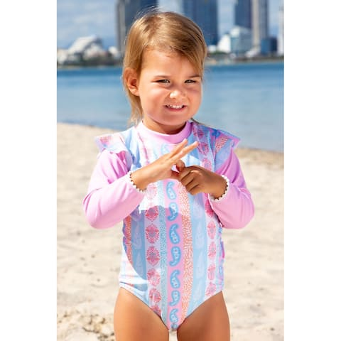 Sun Emporium Arabella Print Long Sleeve Swimsuit Baby Girls - 6-12 Months