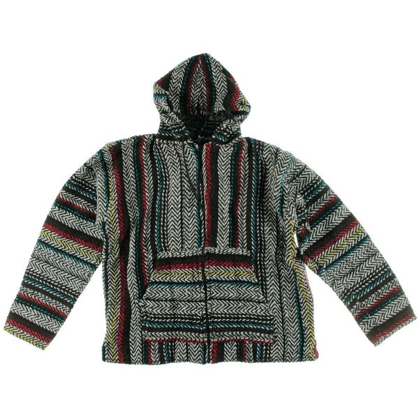 Shop Baja Joe Mens Hoodie Pattern Poncho - Free Shipping On Orders