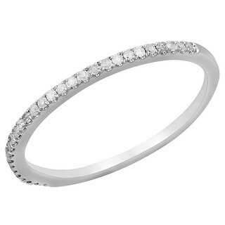 Prism Jewel 0.15Ct Round Natural Diamond Stackble Ring, 1.55mm Wide