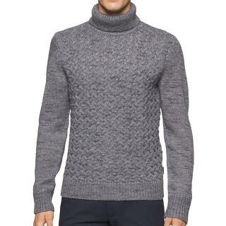 Calvin Klein NEW Gray Mens Size 2XL Multi-Textured Turtleneck Sweater