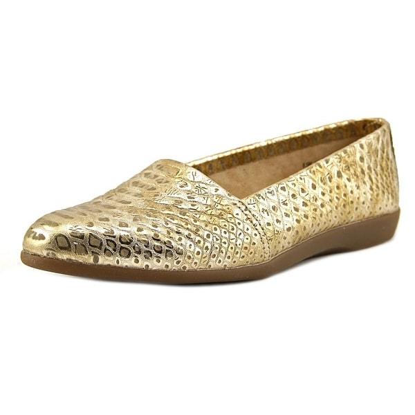Aerosoles Trend Setter Women Gold Snake Flats