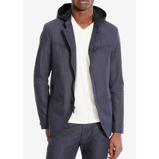 Kenneth Cole Reaction NEW Blue Mens Size 2XL Hooded Four Button Blazer