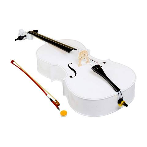 4/4 Wood Cello Bag Bow Rosin Bridge White/Retro