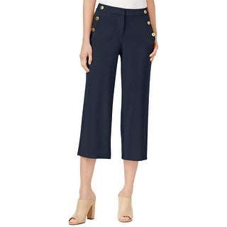 Kensie Womens Cropped Pants Stretch Button Detail (4 options available)